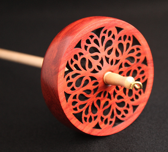 "Spanish Peacock ""Do Not Drop"" Spindle - Arabesque Design"