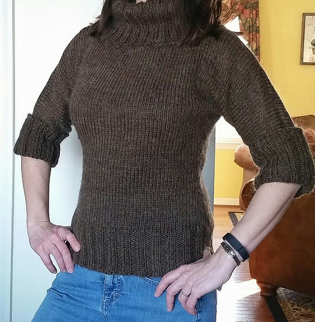 A lovely sweater... except the arms are different lengths!