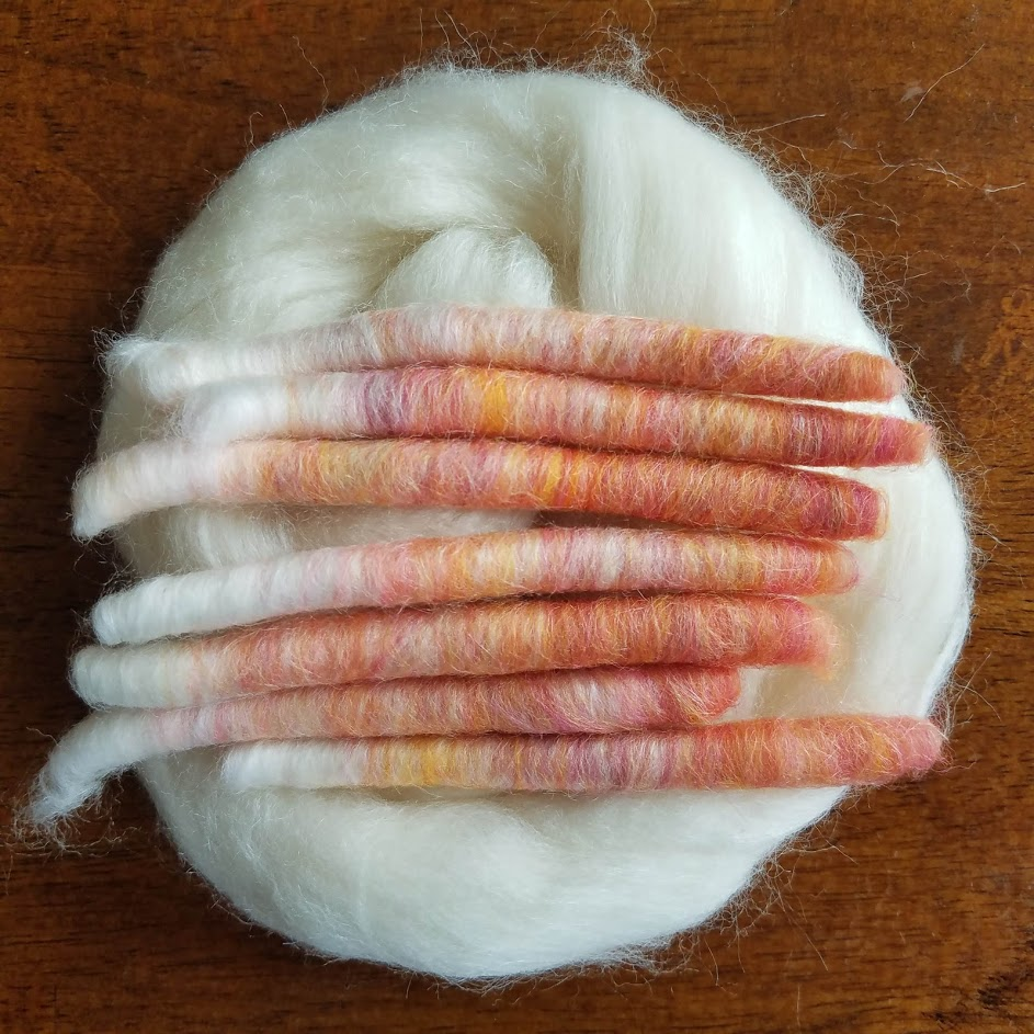 Peach Gummies and 80/20 Merino Silk Blend
