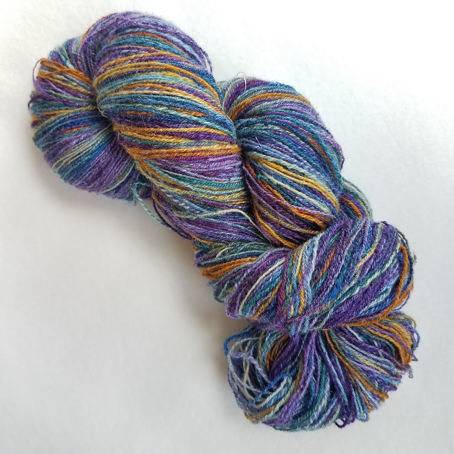 Broken Ornaments Skein, approx 320 soft squishy yards of color