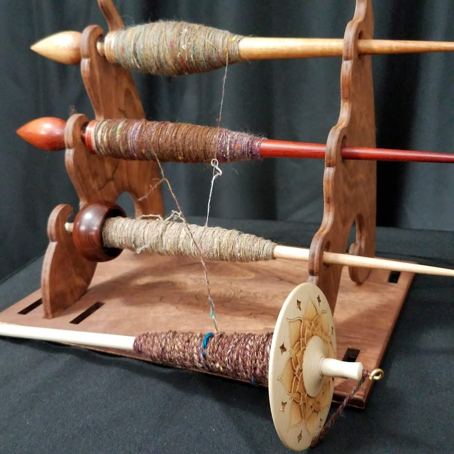 Tour de Fleece 2019 - day 7 plying on my Supported Spindle Plying Stand