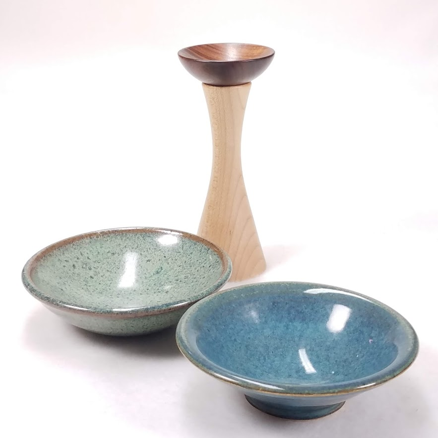 The Peahen's three go-to supported spinning bowls