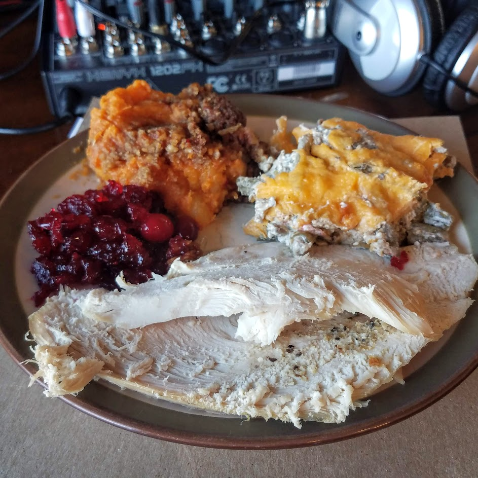 I am grateful for Thanksgiving feasts and podcasting... among many other things!