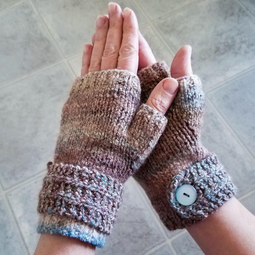 At long last, the finished mitts