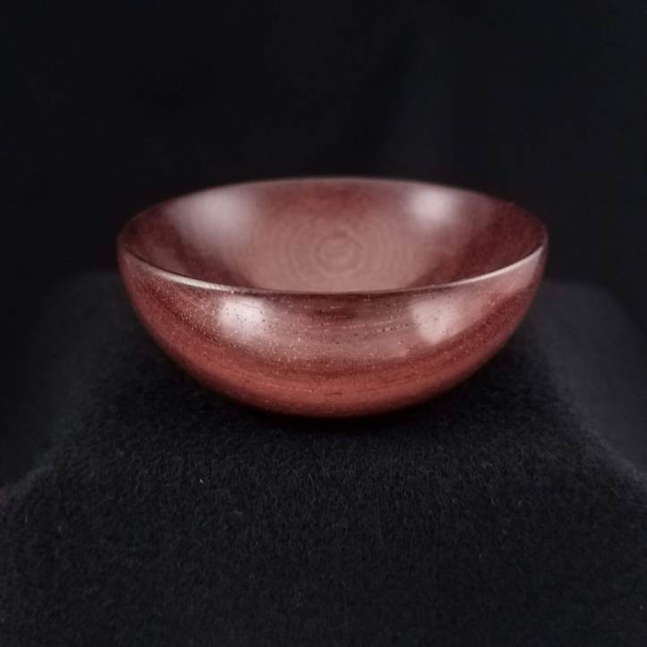 A spindle bowl turned in katalox wood - this one made one of the Peachicks