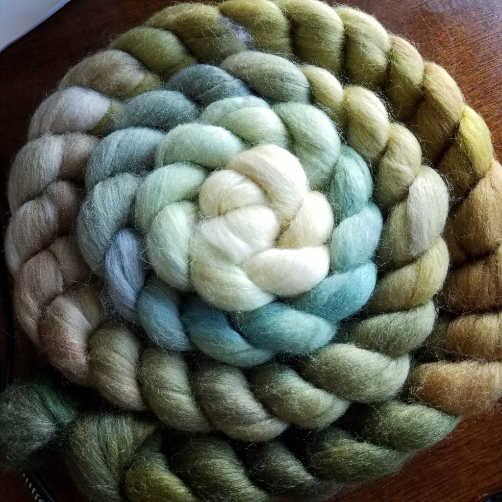 The braid of fiber I want to spin...